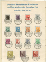 Sonderstempel -  Minister-Präsidenten - Konferenz Juni 1947