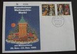 Bund 1831f auf Brief  SST Mannheimer Weichnachtsmarkt