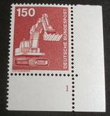 Bund 0992  150 Pf   I+T ERur mit Formnummer