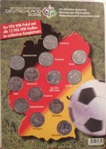 WM 2006  Stadien auf Medaillen