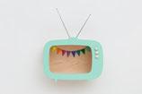 """Fernsehregal """"Tiwi"""" in minzgrün, rosa oder gelb"""