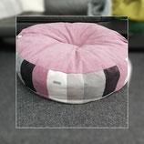 Deluxe-Kissen-Bezug  129 alt rosa-Patchwork