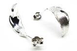 シルバー925羽ピアス/片耳購入もOK:sv feather pierced earrings