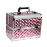 076022 Beauty Case roze 3D aluminium met slot