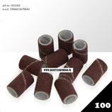 051501 Schuurrolletjes / kapjes voor elektrische nagelfrees, gritt 100, verpakt in zakje van 100 stuks, pedicure, manicure, gel nagels, acryl nagels, nepnagels - beautyandthings©