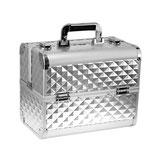 076020 Beauty Case zilver 3D aluminium met slot