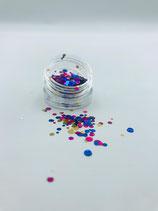 059000 Dotties | Confetti 2,7 cm (goud, blauw, paars )