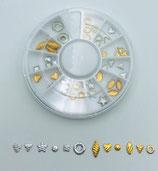 054505 Figuurtjes goud | zilver Carroussel 6 cm K505