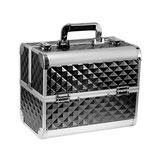 076021 Beauty Case zwart 3D aluminium met slot