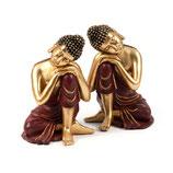 14833 Set 2 Buddhas L & R 18 cm
