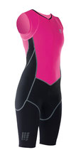 CEP Damen Triathlon Compression Skinsuit - Pink/Schwarz