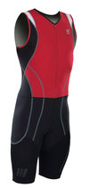 CEP Herren Triathlon Compression Skinsuit - Rot/Schwarz