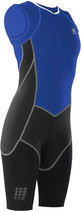 CEP Damen Triathlon Compression Skinsuit - Blau/Schwarz