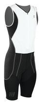 CEP Herren Triathlon Compression Skinsuit - Weiß/Schwarz