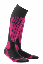 CEP Damen Skiing Compression Socks - Pink/Schwarz