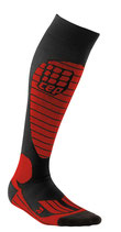 CEP Race Skiing Compression Socks - Rot/Schwarz