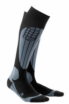 CEP Skiing Compression Socks - Grau/Schwarz