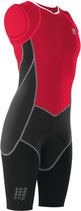 CEP Damen Triathlon Compression Skinsuit - Rot/Schwarz