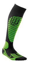 CEP Race Skiing Compression Socks - Grün/Schwarz