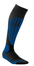CEP Herren Skiing Compression Socks - Blau/Schwarz
