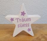 "Leuchtstern violett ""Träum süess"""