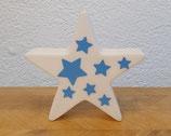 Leuchtstern mit blauen Sternen