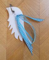 Schlüsselanhänger Engelsflügel mit Deko