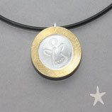 Schmuckanhänger Schutzengel , Silber/Gold  Bicolor