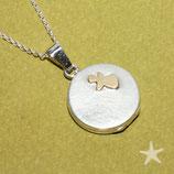 Medaillon mit Schutzengel , klein,Silber