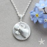Gravurplatte mit Schutzengel , klein,Silber