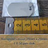 Metalen hangertje ovaal