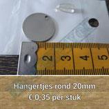 Metalen hangertje rond 20 mm