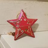 X-MAS Holz-Stern mit Schnur zum Aufhängen