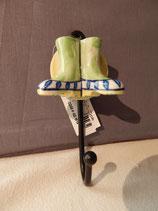 handbemalter Kleiderhacken, Stiefel