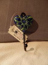handbemalter Kleiderhacken, Blume