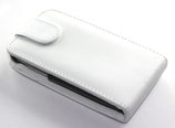 Etui en cuir blanc iphone 3