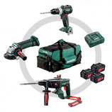 Set de 3 machines  3 accus 1 chargeur Combo Set 3.1 Metabo