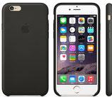 Coque en cuir noire iphone 6/6S