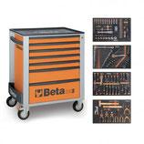Servante mobile d'atelier 7 tiroirs 210 outils 2400S-O7/E-M Beta