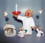 "Rotkeramik ""Engel mit Kerzenschale rot"""