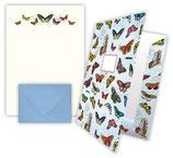 """Briefpapier """"Schmetterlinge"""" mit Sammelmappe"""