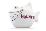 Spardose Hai-Heels