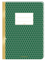 Notizheft (grün) mit Goldrand