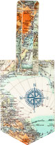 Kofferanhänger Weltkarte