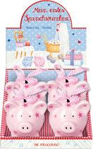Sparschwein mit Sternen (rosa)