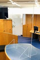 Hygiene-Glasschutz für HV-Tische