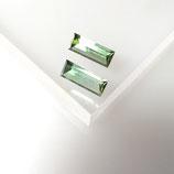 Turmalin Rechteck Spiegelschliff Paar
