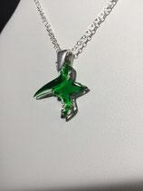 """PE 117 - Pendentif """"Paille en queue"""" vert cristal"""