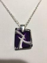 PE 107 - Pendentif  violet cristal