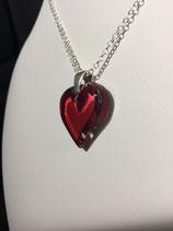 """PE 144 - Pendentif """"cœur"""" rouge"""